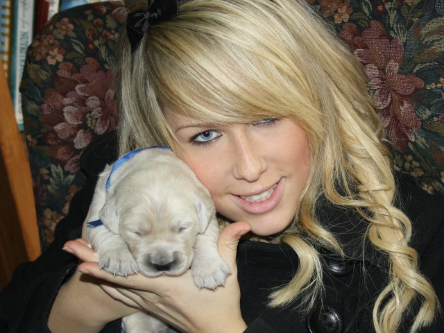 Alexis with Mr. Blue